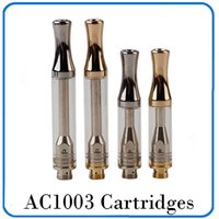 AC1003 Cartridges 0. 5ml 1. 0ml Silver Gold Metal Drip Tip Pyr...