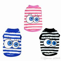 Summer Pet Clothes Dog Shirt Pet Cat Clothing Big Eyes Dog C...