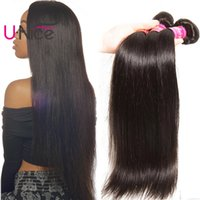 UNice Hair Raw Indian Straight Hair 4 Bundles Virgin Human H...