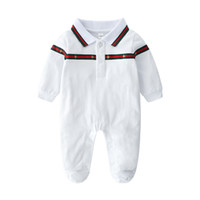 High Quality Baby Boys Romper Autumn Stripe Kids Designer Lo...