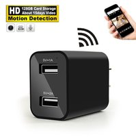 Mini cámara inalámbrica HD 1080P USB Cargador de pared Cámara WiFi Vista remota Cámara de seguridad H.264 Video Recorder Registro de detección de movimiento Mini DV