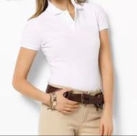 Kadınlar polo gömlek 2018 yaz timsah nakış tarzı kısa kollu soylu renk pamuk polo gömlek kadın polo gömlek t-shirt tee güzel renkler