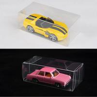 500PCS 8.2X4X3CM ПВХ ясно показать спичечный коробок TOMY игрушка модель автомобиля 1/64 TOMICA горячие колеса пыли доказательство дисплей коробка защиты бесплатная DHL