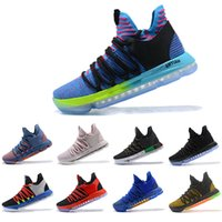 2018 KD 10 zapatos de baloncesto para hombre Lo que All Star Aunt Pearl Be True Triple negro Oreo BHM City Edition celebración Sports Sneakers