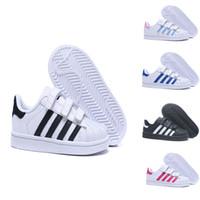buy popular ad178 4a7e4 Adidas Superstar Niños superestrella zapatos niños niñas zapatillas de  deporte 2018 primavera otoño invierno nueva llegada