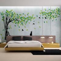 Green Tree Duvar Sticker Büyük Çıkarılabilir Salon TV Wall Art Çıkartmaları Ev Dekorasyonu DIY poster çıkartmaları vinilos paredes