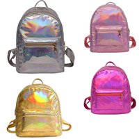 50pcs 2018 Holographic Backpack Metallic Silver Gold Laser B...