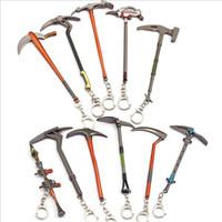 11 Design Metall Keychain 4,75 Zoll Hammer Axt Waffe Modell Die Nacht Anhänger PickoXe Hoe Spielzeug Schlüssel Chiain DHL frei