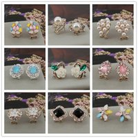 24pairs mix  lot Fashion Hot Rhinestone Zirconia Stainless S...