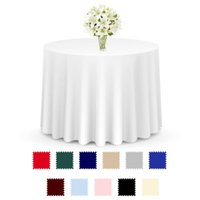 12 Colors Polyster Round Table Cloth Table Blanke Home Decor...