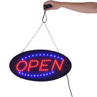 Soutien personnalisé LED néon signe ouvert LED signe signe signe clignotant lumières pour les entreprises, les murs, magasin bar lampe