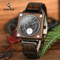 BOBO BIRD Design Holz Top-Marken-Männer Uhren Relogio Masculino Quarz-Frauen-Uhr-Uhren In Holzbox R14