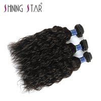 grade 9a peruvian hair shining star water wave bundles with ...