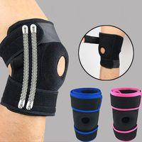 Supporto per ginocchio regolabile Supporto per ginocchio patella Brace Protector Artrite ginocchio congiunto gamba cerniera manica a compressione kneepad foro all'ingrosso