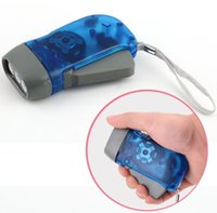 Protable Flashlight 3 LED Dynamo Wind Up Flashlight Torch Li...