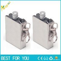 Stainless Steel Flint Metal Match Fire Starter Matches Porta...