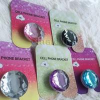Kristal elmas Telefon Standı ve Kavrama Cep Telefonu Tutucu Tabletler için iPhone 7 ile Evrensel paketi ile