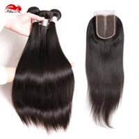 Hannah product Hot Sale 4Pcs LOT 1 Piece Closure With Hair B...