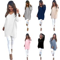 Wholesale cashmere sweaters for sale - 8Colors Women V Neck Cashmere Sweater  Autumn Winter Female Pullover 8c830a123