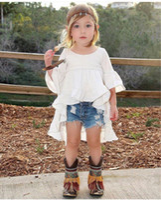 Le ragazze vestono ragazze pantaloncini firmati di marca per bambini bambino bambini neonate abiti estivi vestiti a coda di rondine Dress + Denim Shorts 2PCS Set