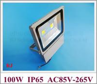 IP65 wasserdichten Outdoor-LED-Flutlicht 100W (2 * 50W) LED-Strahler AC85V-265V Eingang CE ROHS hohe helle Aluminium 2 Jahre Garantie