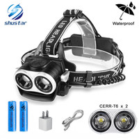 Shustar 8000LM 2xT6 Led Headlamp Zoomable Headlight Waterpro...