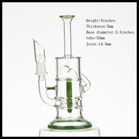 glass bong, 5mm thickness water pipe , recycler oil rig good ...