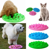 3 Cores Pet Dog Puppy Silicone Lento Comer Tigela Anti Choking Alimentos Água Dish Slow Eating Alimentação Alimentador Tigela AAA471