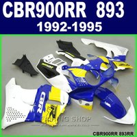 Kit carena vendita calda Honda CBR900RR CBR 893 1992-1995 carenatura giallo bianco blu CBR 600 RR 09 10 11 RT46