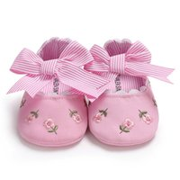 Raise Young Cotton Fabric Summer Baby Girl Shoes Embroidered...
