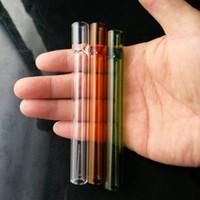 새로운 색상 유리 흡입 구, 도매 봉 석유 버너 파이프 워터 파이프 유리 파이프 오일 조작 흡연 무료 배송
