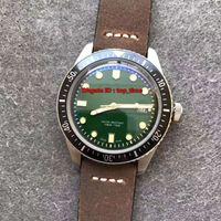 3 Stil En watche Dalgıçlar Altmış beş ETA2824 Otomatik Erkek İzle 01 733 7720 4057-07 5 21 02 Yeşil Dial Kahverengi Deri Kayış Gents Saatler
