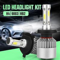 Yeni Gelmesi Araba LED Farlar S2 COB Vurgulama Lambası Yüksek Işın Düşük Işın H4 H7 H11 9005 Ampul