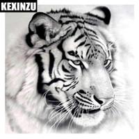 New Cool Tiger 5D Quadrat Bohrer Diamant Malerei Stickmuster Kreuzstich Kits Mosaic Decor Aufkleber