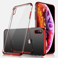 Custodia in TPU placcato di lusso per iPhone X XS XR XS Custodia in silicone ultra sottile MAXTransparent per iPhone 8 7 6 6S Plus TOP