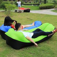 2018 Trend Outdoor Products Fast Infaltable Air Sofá cama Buena calidad Bolsa de dormir Bolsa de aire inflable Lazy bag Beach Sofa Laybag C18110601