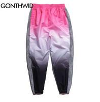 GONTHWID Side 3M Fader reflectante Harem Pants 2018 Hombres / Mujeres Hip Hop Casual Track Joggers Pantalones Streetwear Male Pants de moda