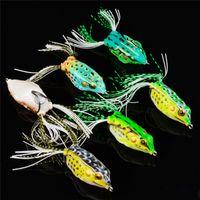 플로팅 다이빙 낚시 인공 Snakehead 미끼 13.7g 5.5cm 소프트 레이 개구리 모양 미끼 Crankbaits 미끼
