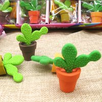 2pc lot Cute cartoon eraser   creative rubber plant cactus e...