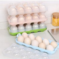 Porte-plateaux à oeufs pour cuisine Boîtes de rangement des oeufs pour galets Etui Réfrigérateur Bac à légumes en plastique séparateur Conteneur