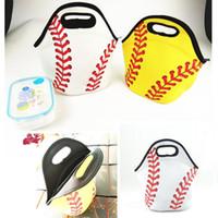 네오프렌 야구 점심 가방 스포츠 소프트볼 토트 절연 된 쿨러 가방 남여 학생 키즈 식품 캐리어 보관 가방 방수 핸드백