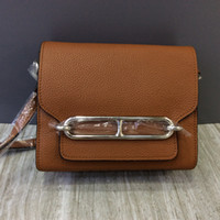 17CM 23CM Brand Shoulder Bags Real Litchi Genuine leather To...