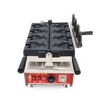 Aprire bocca della macchina della cialda dei pesci, delle famiglie Ice Cream Forma Pesce Waffle Baker / Bocca aperta Pesce creatore della cialda / macchina elettrica Taiyaki