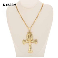 Ancient Ankh Cross Of Horus Egyptian Jewelry Male Eagle & Sn...
