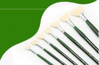 Malutensilien Fächerförmiger Stift, grüne Stange, Schweinemähne, Ölmalstift, Aquarellstift