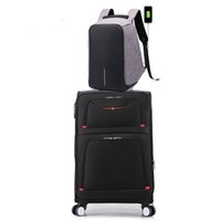 28 inch High capacity Rolling Luggage Set Spinner USB Should...