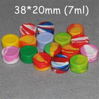 Atacado 22 ml 3ml 5mL 7 ml Non-stick de silicone Jar Dab Wax Containers Para Wax Silicone frascos de óleo de silicone Plataformas FDA LFGB teste