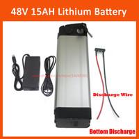 48V 15AH серебряная рыба литий электрический велосипедный аккумулятор 13S 48VOLT 10AH 12AH Li-Ion Ebike аккумулятор с 54.6V 2A зарядное устройство нижний разряд