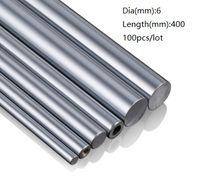 100 шт. / лот 6x400mm диаметр 6 мм линейный вал 400 мм длинный закаленный вал подшипник хромированный стальной стержень бар для 3D принтер частей cnc маршрутизатор