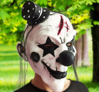 Black and White Scary Clown Mask Full Face Cosplay Horror Ma...
